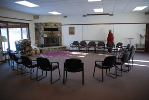 Main meeting room at Metta Meditation Center