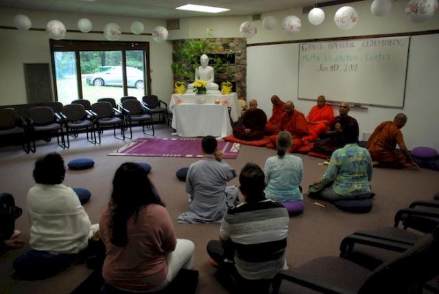 Sunday morning meditation at the Metta Meditation Center