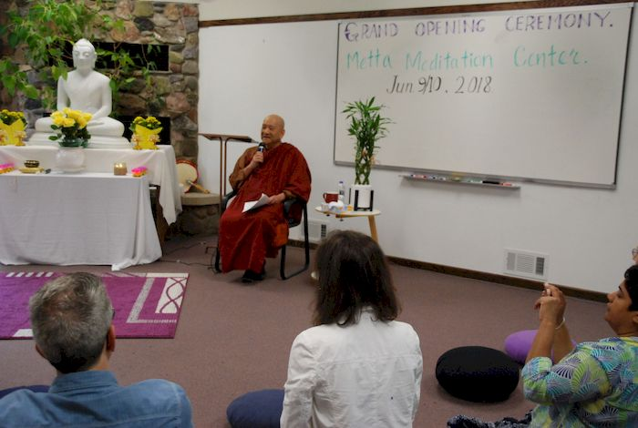 Bhante Kovida from Canada sharing the teachings at the Metta Meditation Center
