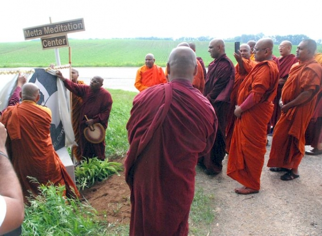 Unveiling the Metta Meditation Center sign