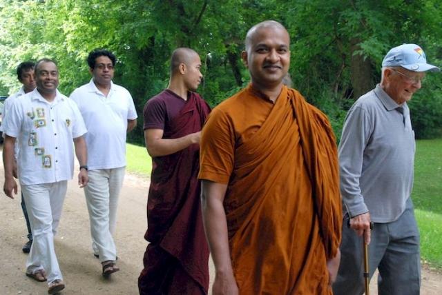 Walking back to the Metta Meditation Center