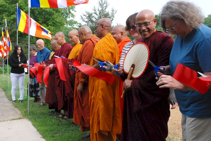 Ribbon Cutting for the grand opening at the Metta Meditation Center