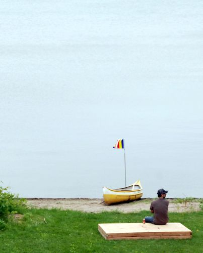 Contemplation at the lake shore at the Metta Meditation Center