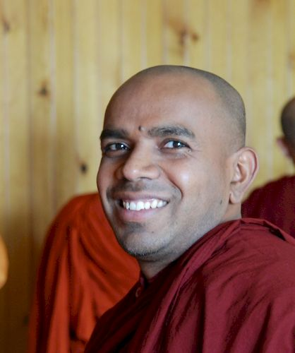 Bhante    at the open house for the Metta Meditation Center
