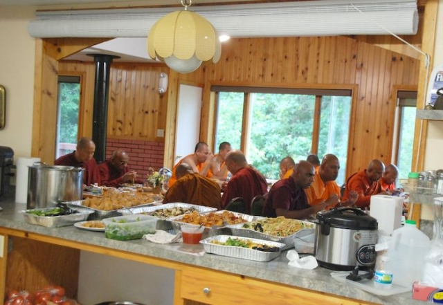 A view from the kitchen at the Metta Meditation Center