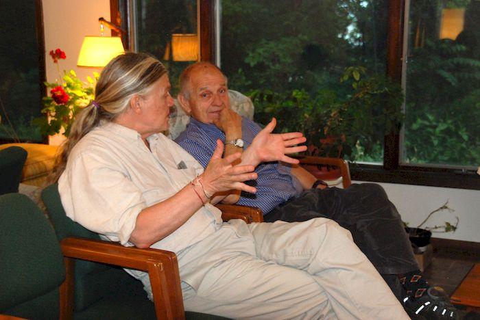 Dick Nienow listening at the Metta Meditation Center