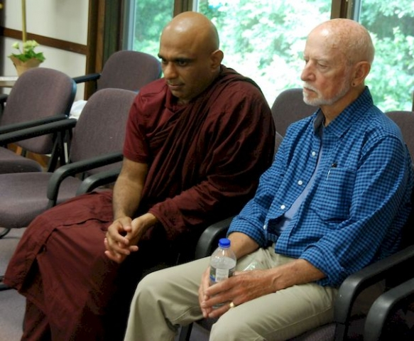 Bhante Sathi and Ralph at the Metta Meditation Center