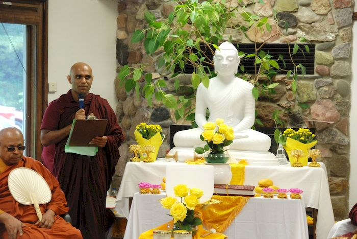 Bhante Sathi introducing the visiting monks at the Metta Meditation Center