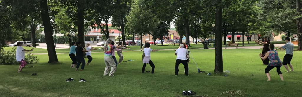 Qi Gong in the Park with Bhante Kovida
