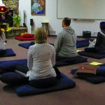 Group meditation at Metta Retreat Center