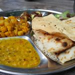 plate with Indian food