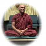 Bhante Sathi teaching during the meditation session at the UU of Mankato