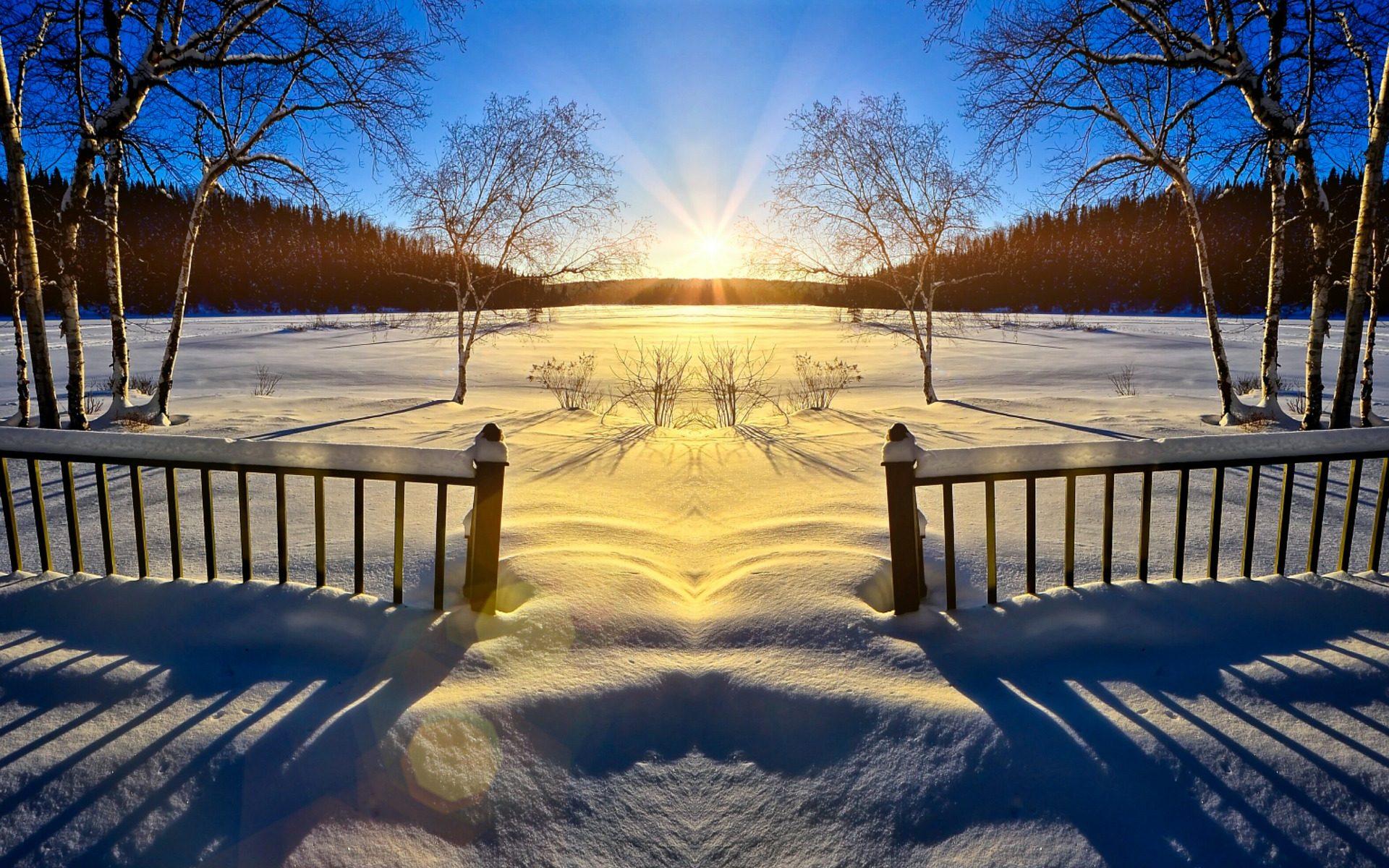 Sunrise for New Year Meditation