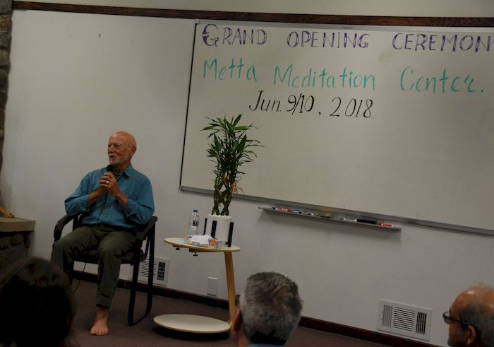 Ralph speaking on mindfulness at the Metta Meditation Center