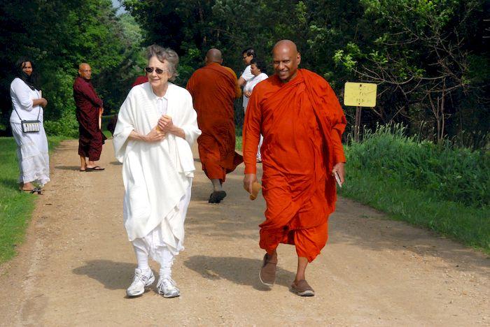 Raberta and Bhante Mudita
