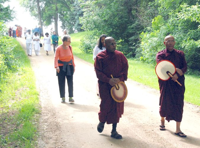 Walking back to the Metta Meditation Center