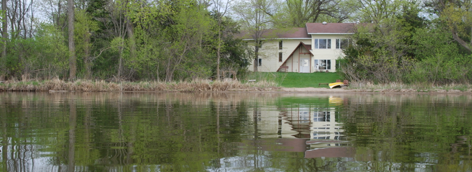 View of Metta Meditation Center from Lake Elysian
