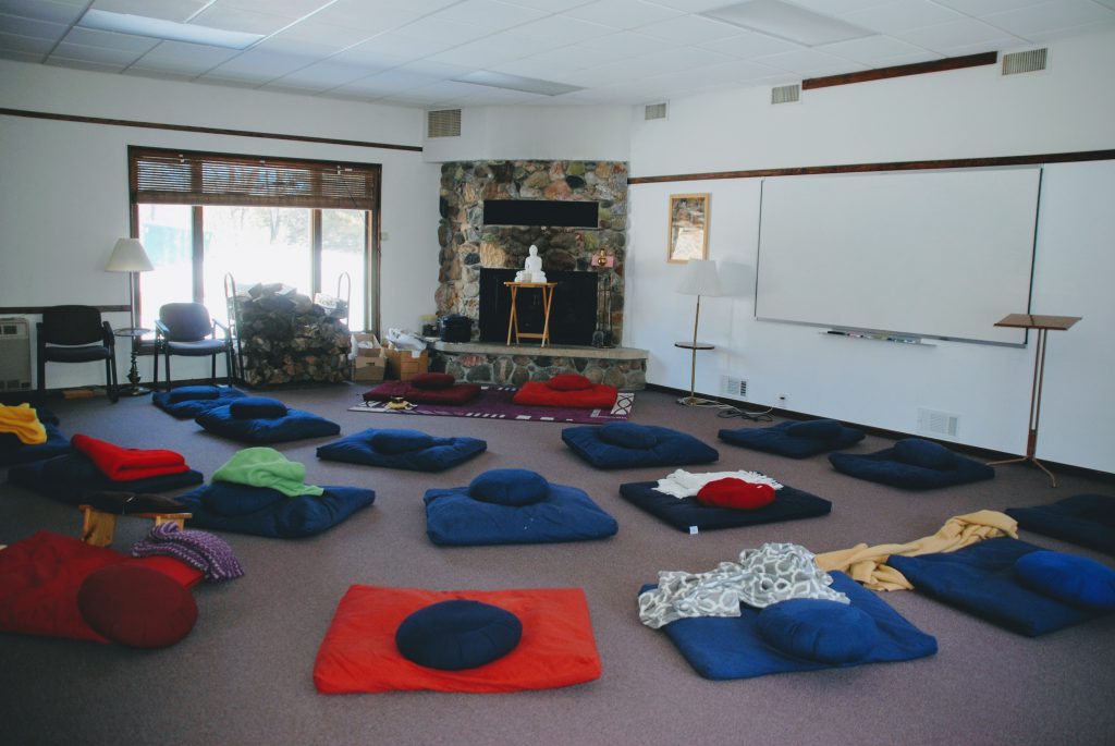 Meditation room at the Metta Meditation Center