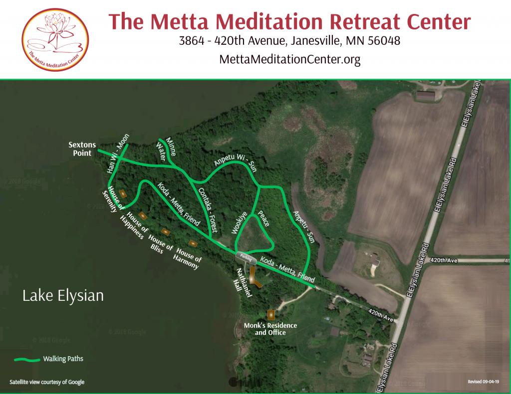 Map of the Metta Meditation Center