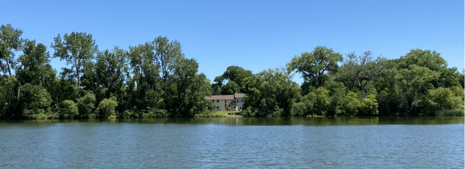 View of center from Lake Elysian