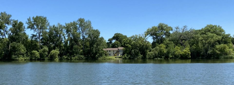 View of Metta Meditation center from the lake